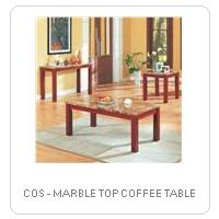 COS - MARBLE TOP COFFEE TABLE